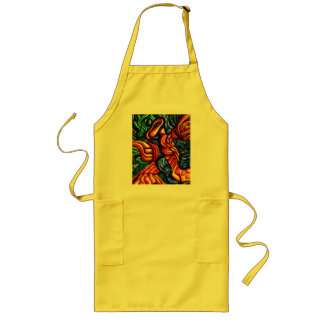 """spring of the air"" abstract apron smock"