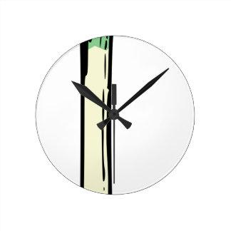 Spring Onion Round Clock