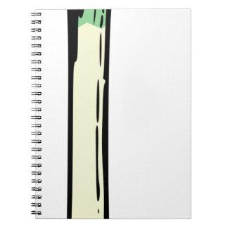 Spring Onion Spiral Notebook