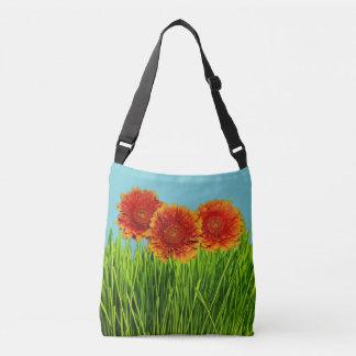 Spring Orange Flowers Crossbody Bag