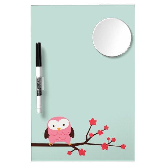 Spring Owl Dry Erase Whiteboard