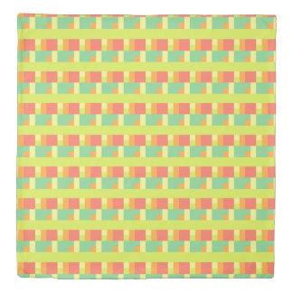 Spring Palette Geometric and Stripes Duvet Cover