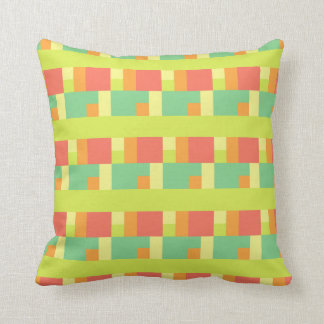 Spring Palette Geometric Throw Pillow