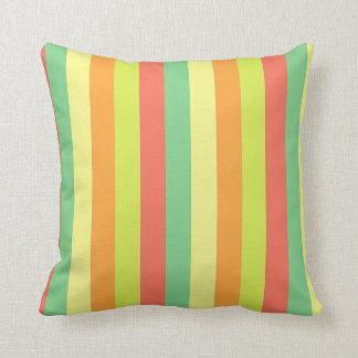 Spring Palette Stripes Throw Pillow