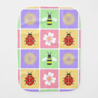 Spring Patches Burp Cloth
