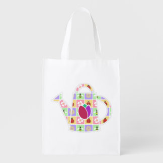Spring Patches Reusable Grocery Bag