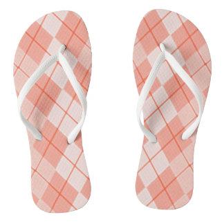 Spring-Peach-Argyle(C)Multi-Styles Flip Flops