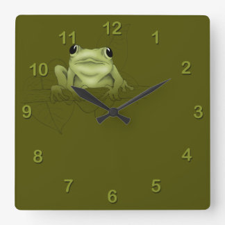 Spring Peeper Square Wall Clock