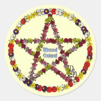Spring Pentical Classic Round Sticker