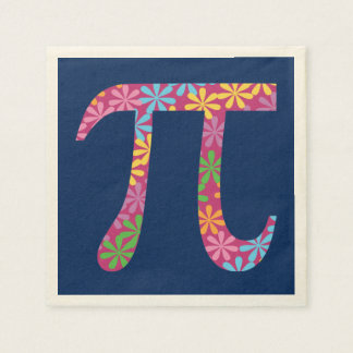 Spring Pi - Flowery Colorful Pi Day Gifts Paper Napkins