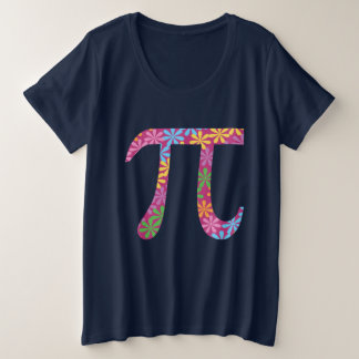 Spring Pi © Flowery Colorful Pi Day Plus Size Tee