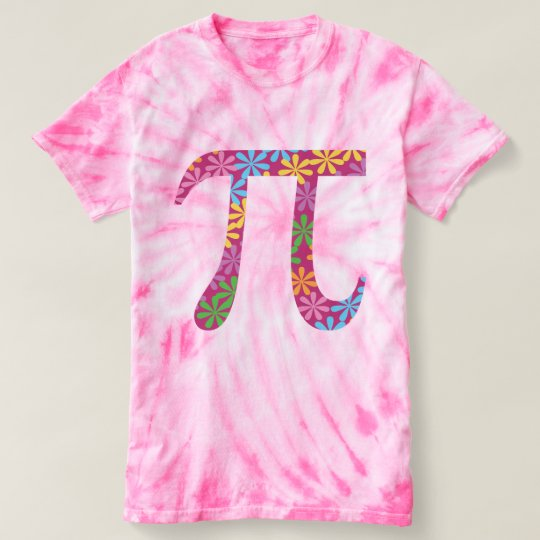 Spring Pi © Flowery Colourful Pi Day Tie-Dye Tee