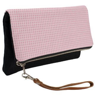 Spring-Pink-Check-Multi-Colors Clutch