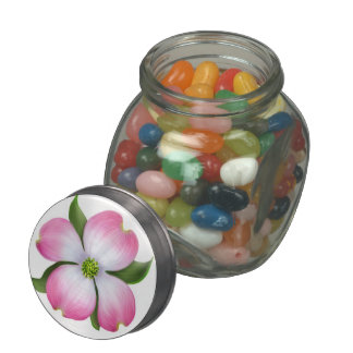 Spring Pink Dogwood Tree Blossom Candy Jar