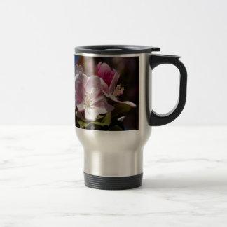 Spring Pink Flowering Crabapple Blossoms Travel Mug