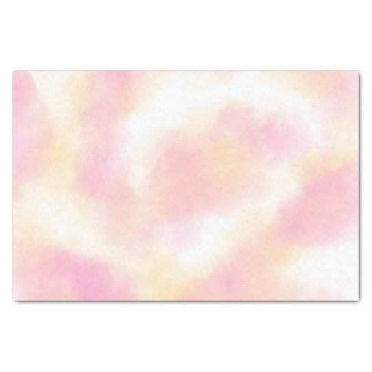 Spring pink peach abstract watercolor wash tissue paper