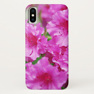 Spring Pink Rhododendron Blooms iPhone X Case