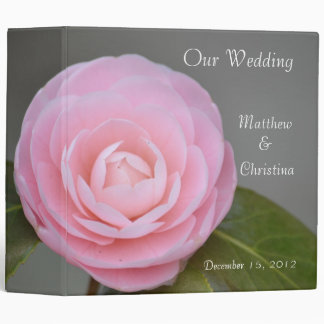 Spring Pink Rose Wedding Binder