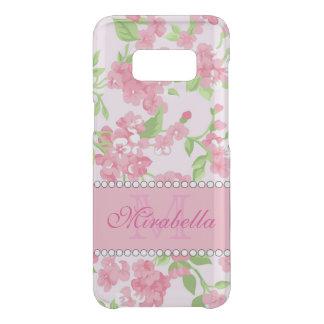 Spring pink watercolor Blossom Branches name Get Uncommon Samsung Galaxy S8 Case