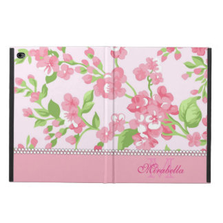 Spring pink watercolor Blossom Branches name Powis iPad Air 2 Case