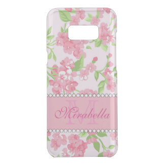 Spring pink watercolor Blossom Branches name Uncommon Samsung Galaxy S8 Plus Case