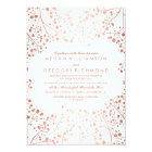 Spring Pinks Baby's Breath Floral Vintage Wedding Card