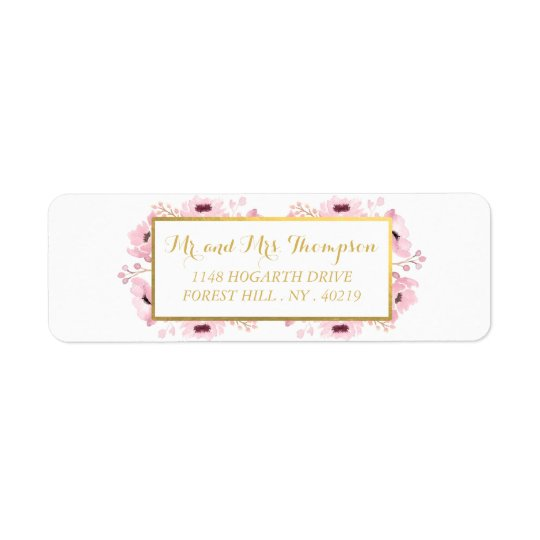 Spring Pinks Watercolor Floral Wedding Collection