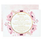 Spring Pinks Watercolor Floral Wedding Collection Card