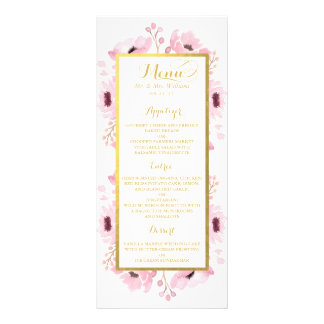 Spring Pinks Watercolor Floral Wedding Collection Rack Card