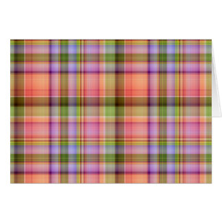 Spring Plaid Note Card