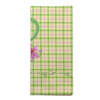Spring Plaid Tea Time Teapot Printed Napkins