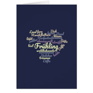 Spring - poem as Wordcloud Card