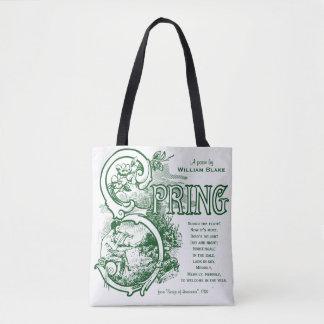 Spring Poem William Blake Victorian Art Satyr Lamb Tote Bag
