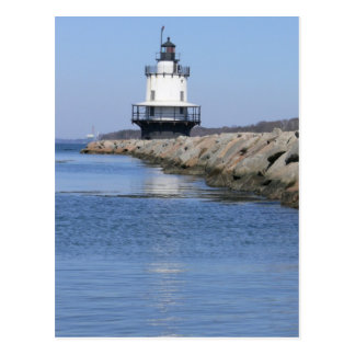 Spring Point Ledge Lighthouse-New England Postcard