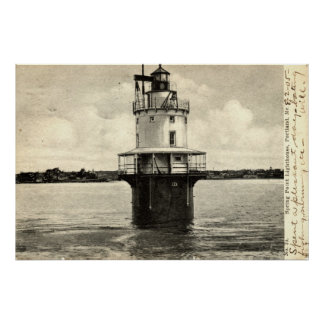 Spring Point Lighthouse, Portland Maine 1905 Poster