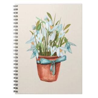 spring postcard notebook
