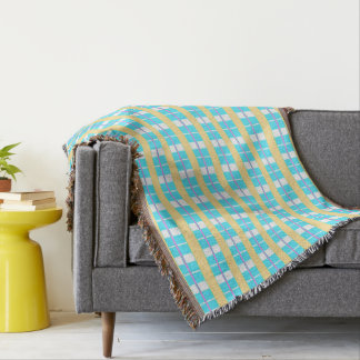 Spring-Preppy-Plaid-Unisex-Blanket Throw Blanket