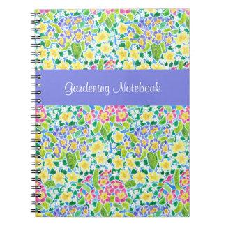 Spring Primroses Customizable Gardening Notebook