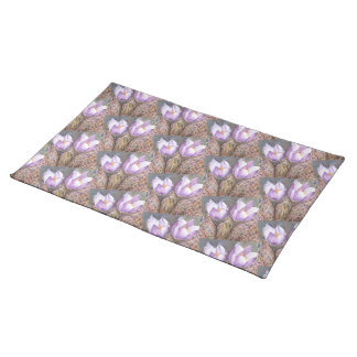 SPRING PURPLE CROCUS FLORAL PLACEMAT
