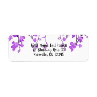Spring Purple Orchid Branches Floral Wedding