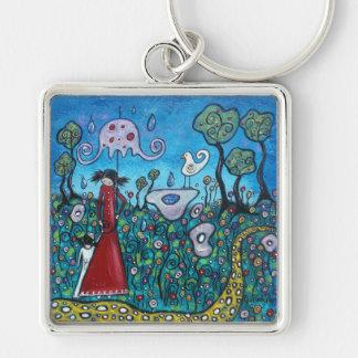 Spring Rain Key Chain