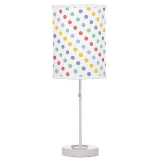 Spring Rainbow Polka Dot Pattern Table Lamp