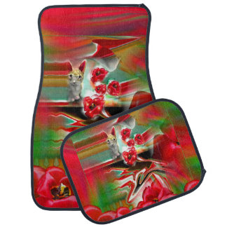 Spring Revival Abstract Easter Art Car Mats Set