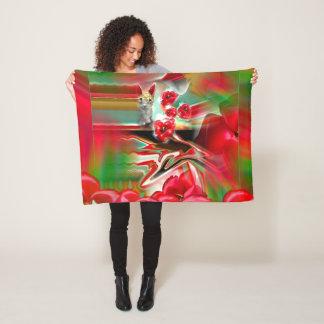 Spring Revival Abstract Easter Art Fleece Blanket