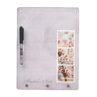 Spring Romance Cherry Blossoms Dry Erase Board