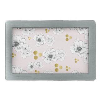 Spring Romance Modern Floral Belt Buckle