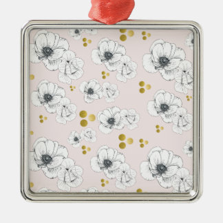 Spring Romance Modern Floral Metal Ornament