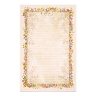 Spring Romance - Peach Stationery Design