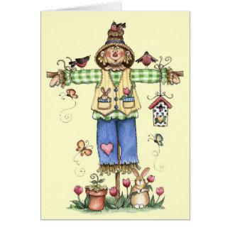 Spring Scarecrow - Greeting Card
