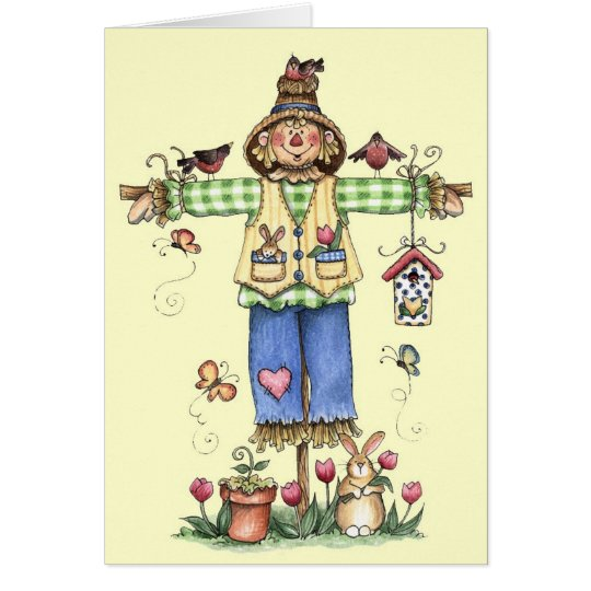 Spring Scarecrow - Greeting Card